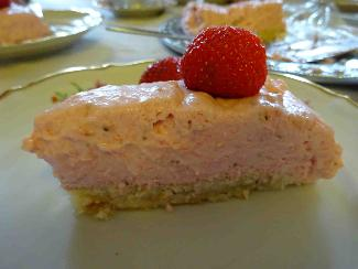 Summer strawberry mousse cake